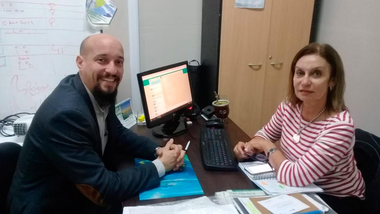 Reunión con la Directora de Relaciones Internacionales